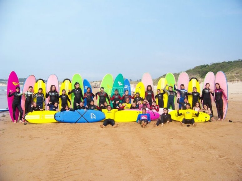 Participants enjoying our surf camp