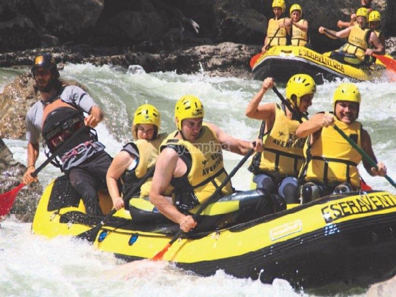 Pack de rafting y vía ferrata