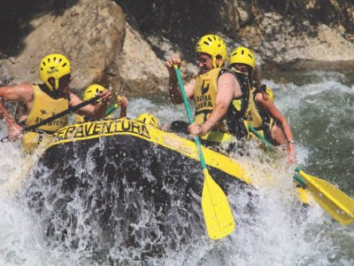 Rafting e kayak open pack O hidrospeed fiume Esera