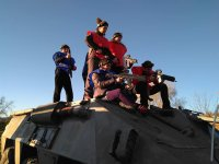 Posando en el tanque