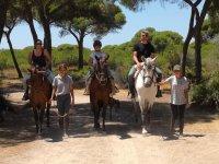 Ruta a caballo de 1 hora Cádiz