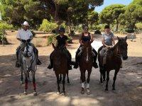 Salida a caballo por pinar de Chipiona