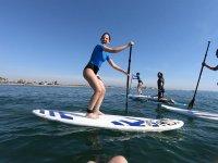 Remando en playa de Alboraya