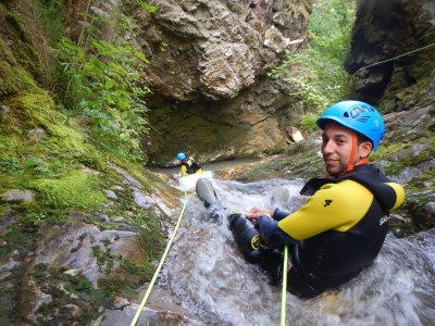 Canyoning in Asturias, different levels