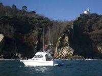El barco navegando