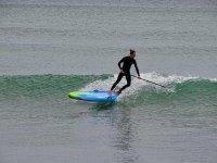 Olas y tabla de paddle surf Valencia