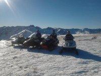 Motoslitte nei Pirenei