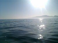 El sol en el mar