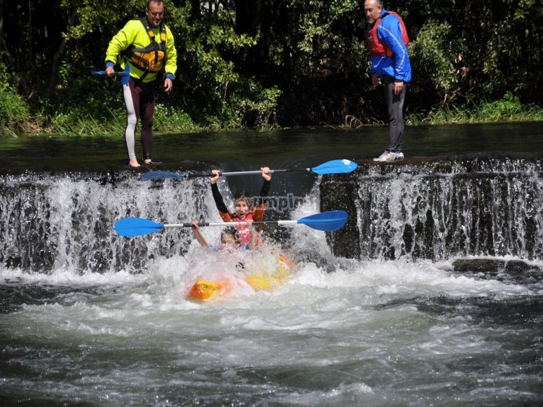 Water free-fall in the Umia river
