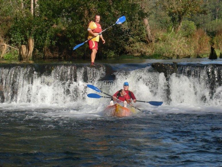 Familiar kayak trail in the Umia