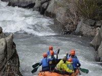 Descenso rafting para niños
