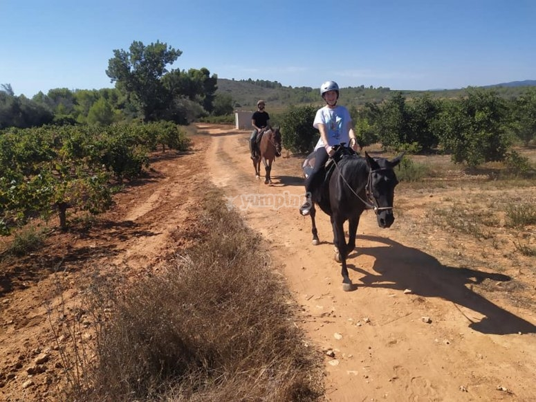 Recorriendo a caballo el Parque Natural del Turia