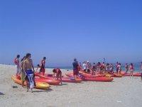 Get ready on the beach