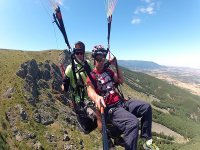 Flying in paragliding in Madrid