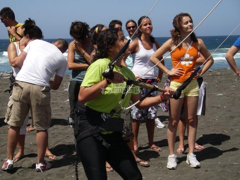Aprende kitesurf en Gran Canaria