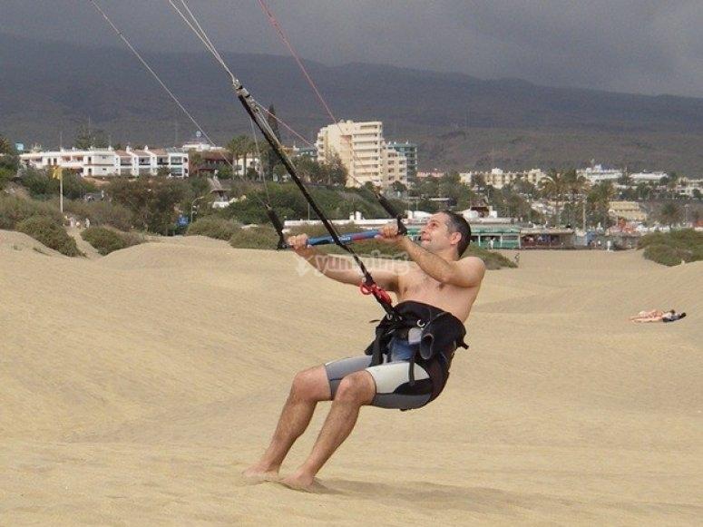 Primera experiencia de kitesurf