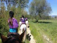 Primera vez montando a caballo en ruta
