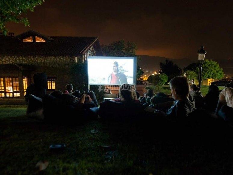 Sesion de cine nocturna