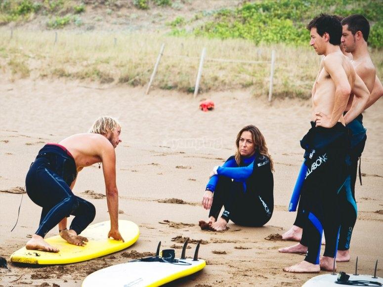 Campamento de surf en Sopelana