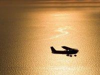 vuelo al atardecer