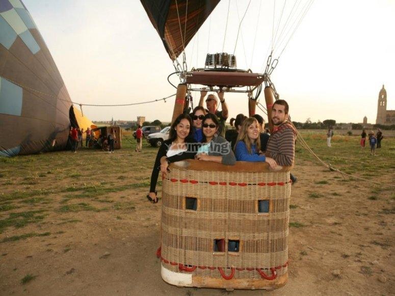 Group on the balloon