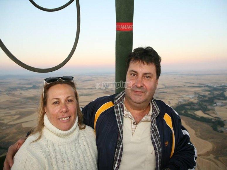 Couple on the balloon