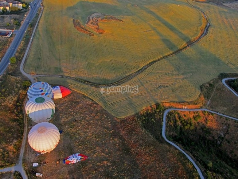 Balloons seen from above