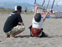 Práctica de kite en tierra
