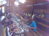 comida en el campamento