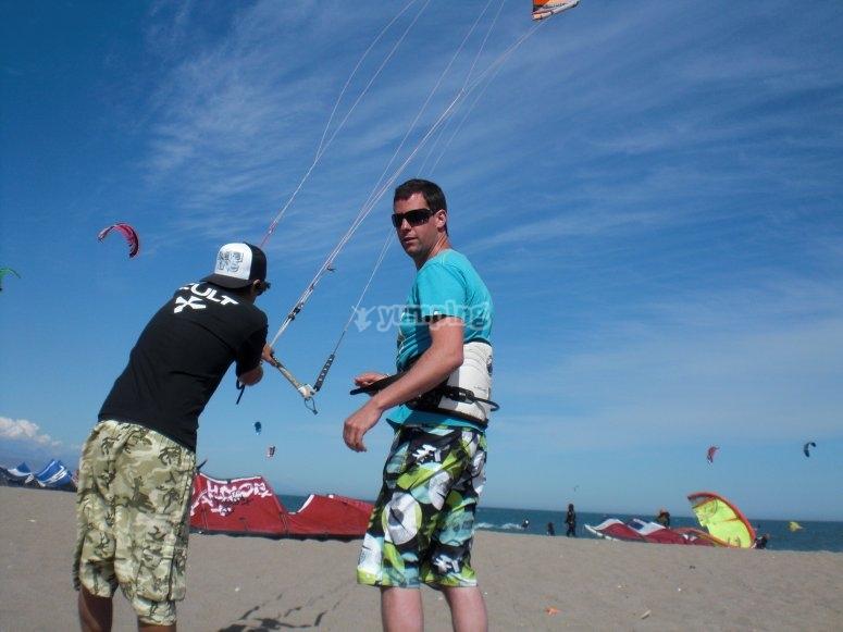 Vuelo de kite en tierra