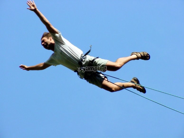 Bungee jumping practice