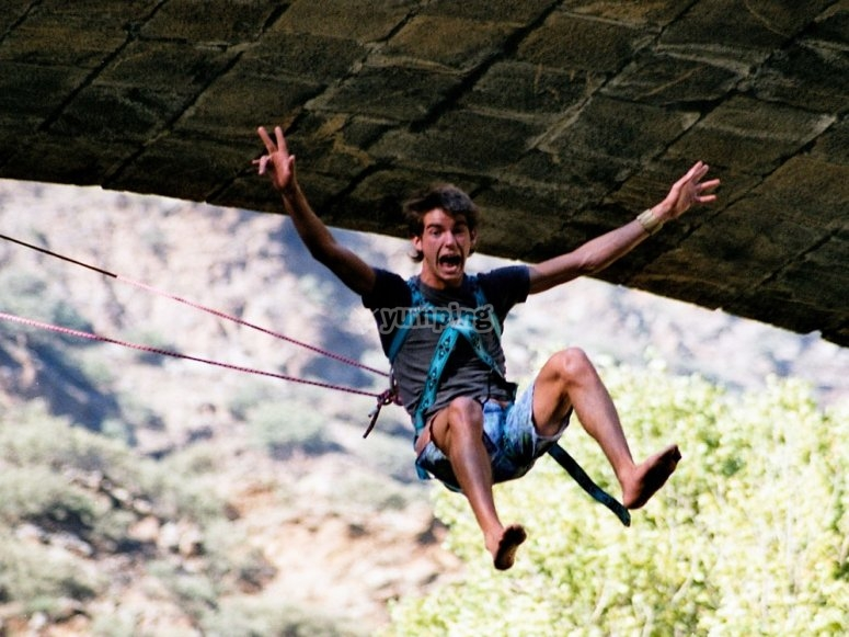 Adrenaline in bungee jumping