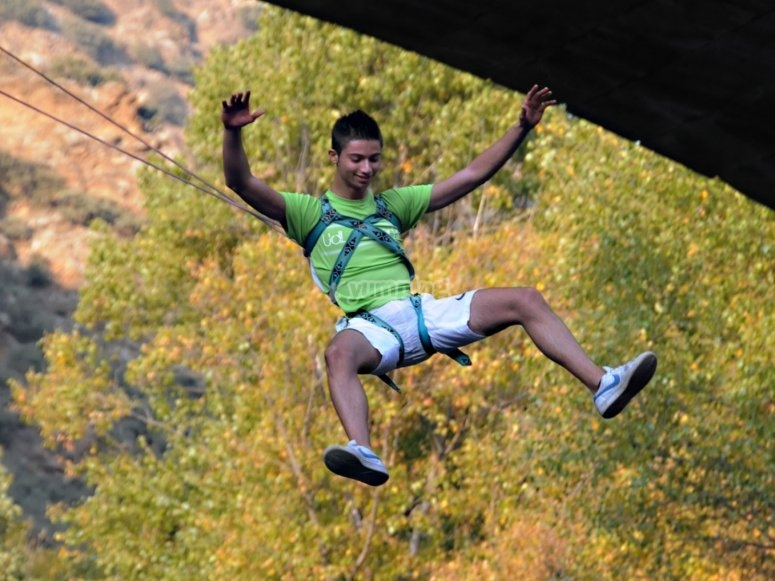 Exciting bungee jump