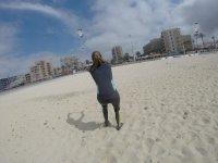 Control del kite en la arena