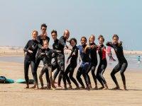 En la playa para las actividades deportivas