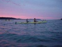 Group of kayaks