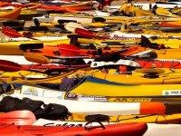 Kayaks parked