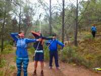 Archery in the forest