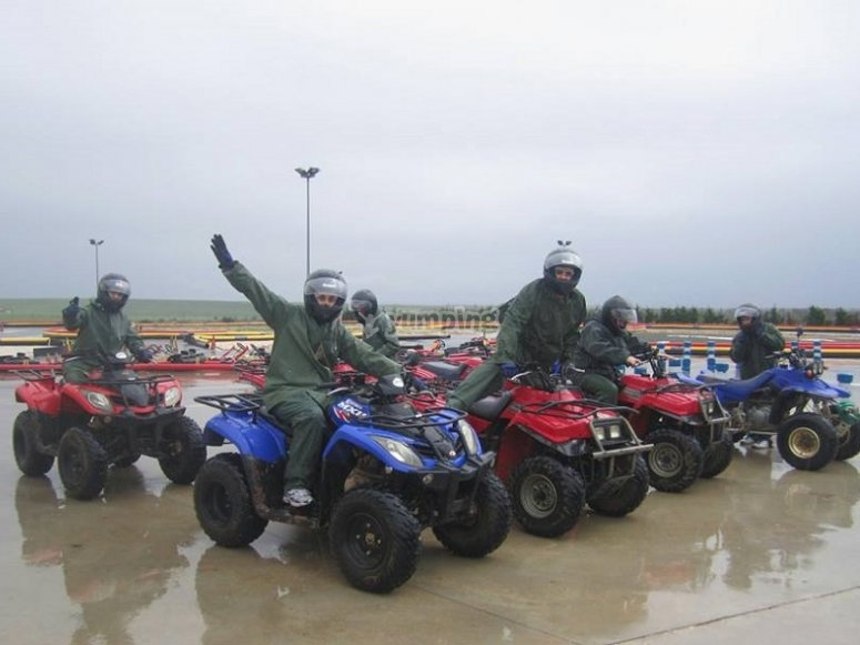 Cavalcando in quad
