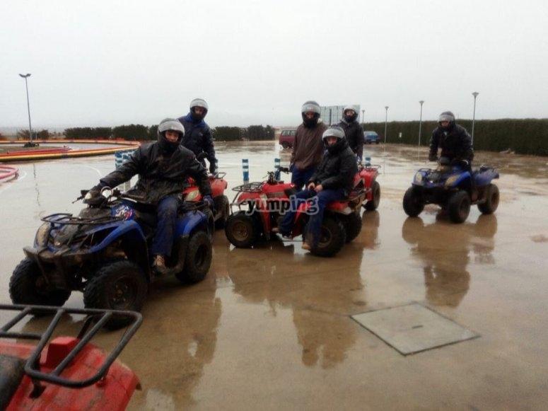 Gruppo di quad a Fresno de la Fuente