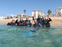 Diving baptism in Costa Brava