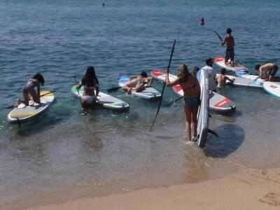 Iniciación en paddle surf  Vilassar de Mar, 90 min