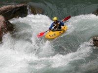 Canoeing in rapids