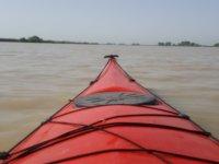 Aboard the kayak