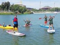 Kayaks y SUP juntos en una misma ruta