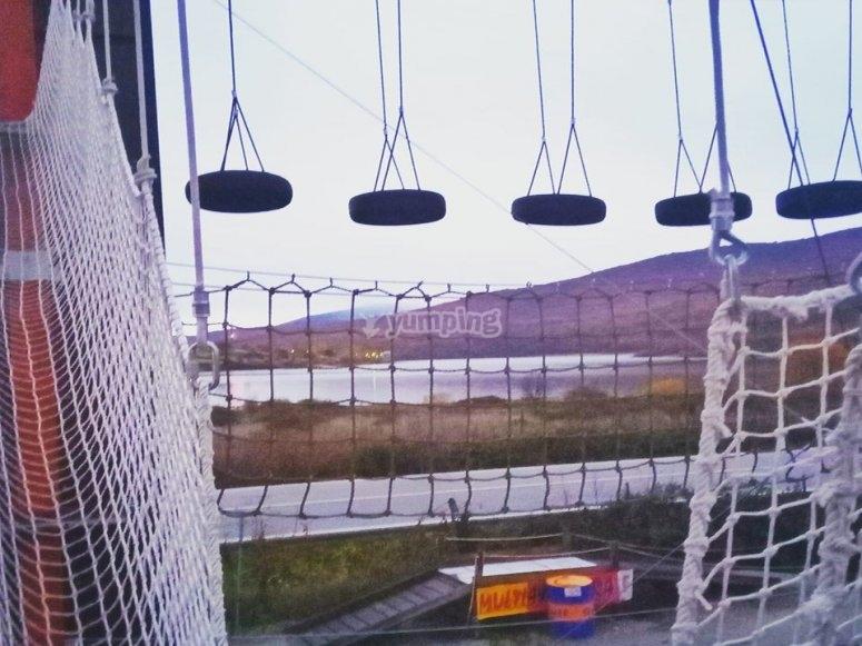 Parque de aventuras en Lozoya