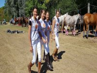 Our students with the horses