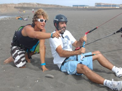 Kiteboarding classes on land, Gran Canaria