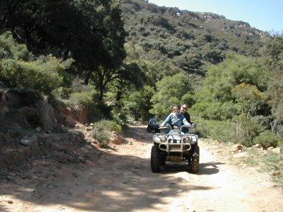 Ruta en quad monoplaza en Punta Paloma, 1 hora