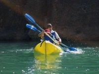 皮划艇导航湛蓝的海水队